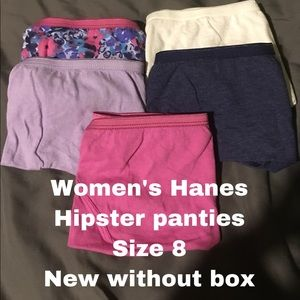 New w/o box Hanes women's hipster panties sz 8
